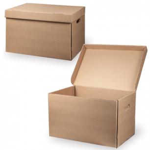 """Короб архивный """"Делопроизводство"""" (в29,5*ш48*г32,5, см), откидная крышка, картон, бурый, ш/к 71803"""