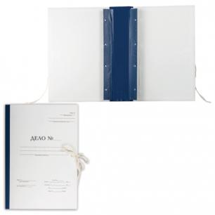 """Папка архивная для переплета """"Форма 21"""", 70 мм, с гребешками, 4 отверстия, 2 х/б завязки, 127133"""