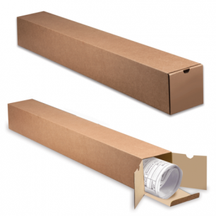Накопитель документов, Тубус для рулонов, 1000мм*120мм*120мм, с вырубным клапаном, бурый, ш/к 71506