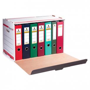 Короб архивный BRAUBERG (в33,8*ш52,5*г30,6,см), д/регистрат/накопит, фронтал.загрузка, белый, 126522