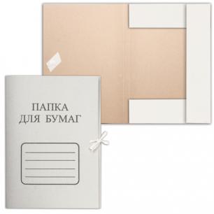 Папка д/бумаг с завязками картонная БЮДЖЕТ, гарант. пл. 220 г/м2, до 200л.