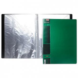 """Папка 20 вклад. """"Хатбер"""", WOOD-зелёная, 0,9мм, 20AV4_02207 (V168110)"""