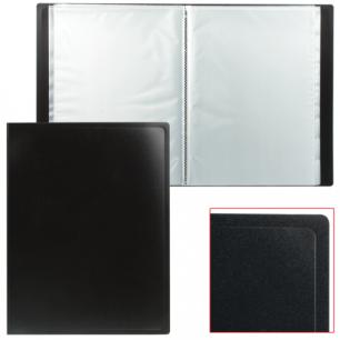 Папка 10 вклад. STAFF эконом, черная, 0,5мм, 225689