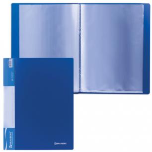 Папка 20 вклад. BRAUBERG Стандарт, синяя, 0,6мм, 221595
