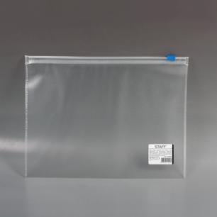 Папка-конверт на молнии STAFF А5 245*190мм, 0,12мм, 224980