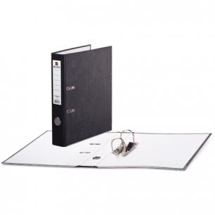 Папка-регистратор BRAUBERG фактура стандарт, с мраморным покрытием, 50 мм, черный корешок, 220982