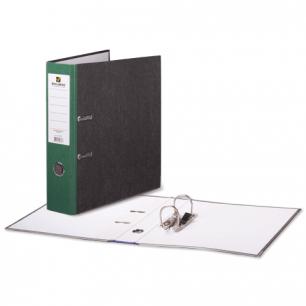Папка-регистратор BRAUBERG фактура стандарт, с мраморным покрытием, 80 мм, зеленый корешок, 220990