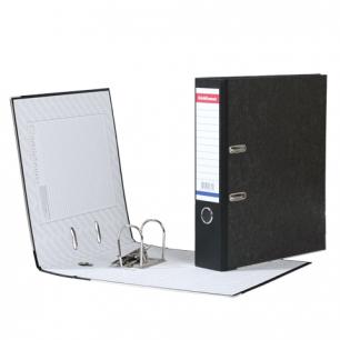 """Папка-регистратор ERICH KRAUSE, с мраморным покрытием, """"содержание"""", 70мм, черный корешок, 4672"""