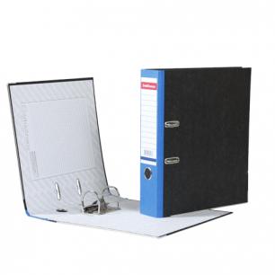 """Папка-регистратор ERICH KRAUSE, с мраморным покрытием, """"содержание"""", 70мм, синий корешок, 408"""