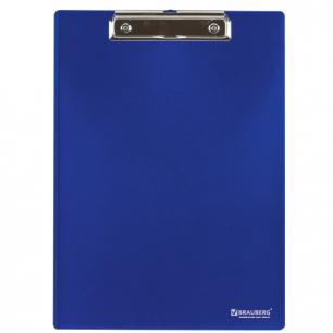 Доска-планшет BRAUBERG Contract, плотная с верхним зажимом А4, 313*225мм, пласт. син., 1,5мм, 223490