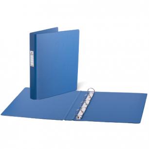 Папка 4 кольца BRAUBERG, картон/ПВХ, 35мм, синяя, до 180 листов (удвоенный срок службы)