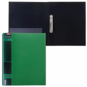 "Папка 2 кольца ""Хатбер"", 25мм, WOOD-зелёная, до 120 листов, 0,9мм, 2AB4_02207 (V168011)"