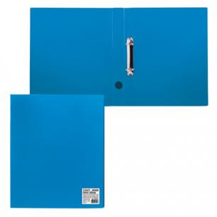 Папка 2 кольца STAFF эконом, 40мм, синяя, до 250 листов, 0,5мм, 225720