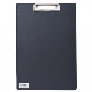 """Доска-планшет BRAUBERG """"Comfort"""" с верхним прижимом А4, 23*35см, картон/ПВХ, РОССИЯ, ЧЕРНАЯ, 222657"""