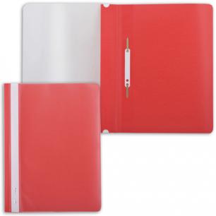 Скоросшиватель пластиковый BRAUBERG красный, 220384