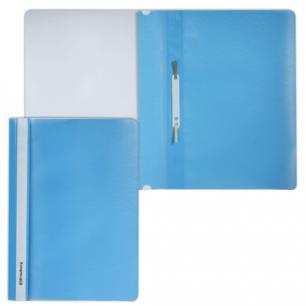 Скоросшиватель пластиковый BRAUBERG голубой, 220386