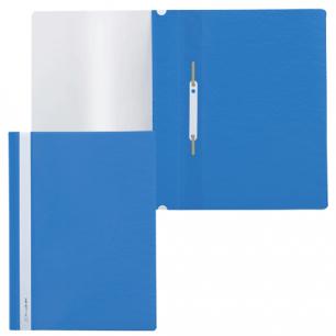 Скоросшиватель пластиковый BRAUBERG синий, 220385