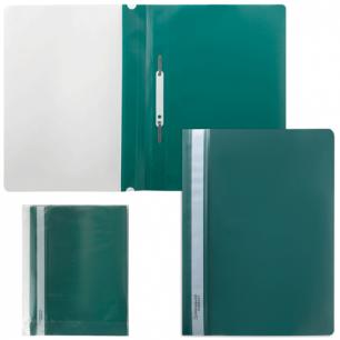 Скоросшиватель пластиковый BRAUBERG зеленый, 220414