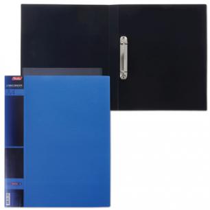 "Папка 2 кольца ""Хатбер"", 25мм, WOOD-голубая, до 120 листов, 0,9мм, 2AB4_02225 (V168004)"
