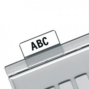 Картотечные индексные окна HAN (Германия), КОМПЛЕКТ 10 шт., для разделителей А4,А5,А6, прозр., НА9001
