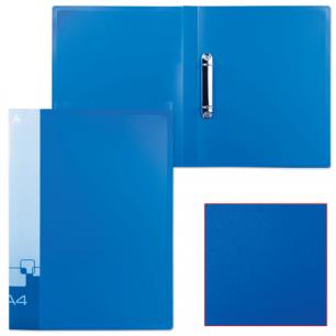 Папка 2 кольца БЮРОКРАТ 27мм, синяя, внутр. карман, до 150 листов, 0,7мм, 0827/2Rblu