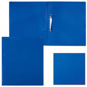Папка 2 кольца БЮРОКРАТ 18мм, синяя, до 70 листов, 0,4мм, 816542
