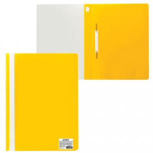 Скоросшиватель пластиковый STAFF эконом, желтый, 225731