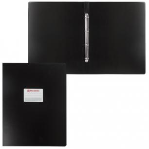 Папка 4 кольца BRAUBERG Cтандарт, А3, ВЕРТИКАЛЬНАЯ, 30мм, черная, до 250 листов, 0,8мм, 225766