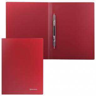 Папка с мет. скоросш. BRAUBERG Стандарт, красная, до 100 листов, 0,6мм, 221632