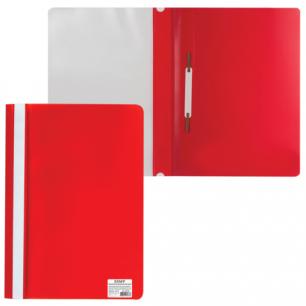 Скоросшиватель пластиковый STAFF эконом, красный, 225729