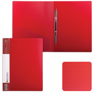 Папка с мет. скоросш. и внутр. карм. BRAUBERG Contract, красная, до 100 лист, 0,7мм, бизнес-класс