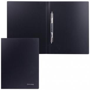 Папка с мет. скоросш. BRAUBERG Стандарт, черная, до 100 листов, 0,6мм, 221634