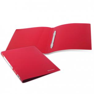 Папка с пластиковым скоросш. BRAUBERG Бюджет, красная, до 100 листов, 0,5мм, 222643