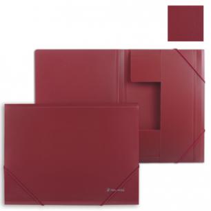 Папка на резинках BRAUBERG Стандарт, красная, до 300 листов, 0,5мм, 221622