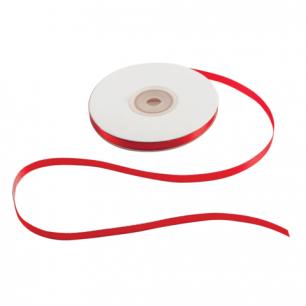 Лента обвязочная атласная для прошивки документов, ширина 6 мм, 4*25м (100м), +/- 5%, КРАСНАЯ, 601934