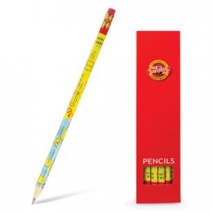 """Карандаш ч/гр KOH-I-NOOR """"Formulas"""", заточенный, с резинкой, картонная упаковка, 1231002478KS"""