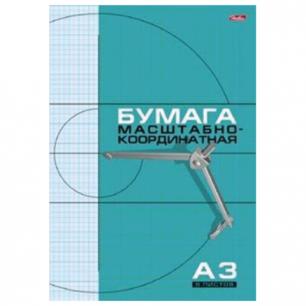 "Бумага масштабно-координатная ""Хатбер"", А3, 295*420мм, голубая, на скобе 8л., 8Бм3_02285 (N002711)"