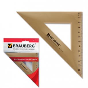Треугольник BRAUBERG 45*16,5см, тонированный, прозрачный, упаковка с европодвесом, 210304