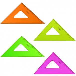 """Треугольник СТАММ """"Neon Cristal"""", 45*16см, тонированный, прозрачный, неон. ассорти, ТК57"""