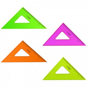 """Треугольник СТАММ """"Neon Cristal"""", 45*12см, тонированный, прозрачный, неон. ассорти, ТК44"""