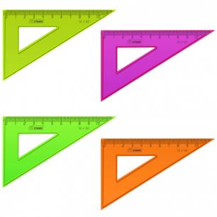 """Треугольник СТАММ """"Neon"""", 30*10см, тонированный, непрозрачный, неон. ассорти, ТК23"""