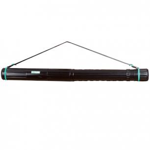 Тубус для чертежей СТАММ телескопический, диам.9см, 70-110см, черный на ремне, ПТ11