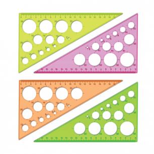 """Треугольник СТАММ """"Neon Cristal"""", 30*19см, тонированный, прозрачный, неон. ассорти, ТК11"""