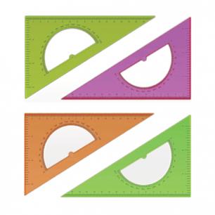 """Треугольник СТАММ """"Neon Cristal"""", 30*16см, тонированный, прозрачный, неон. ассорти, ТК01"""
