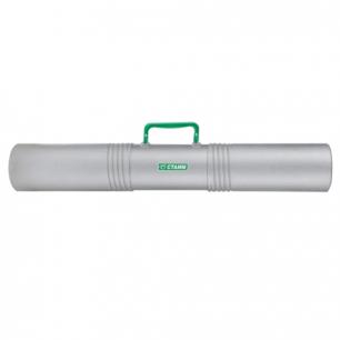 Тубус для чертежей СТАММ 3-х секционный, диам. 10 см, длина 65 см, серый, с ручкой, ПТ42
