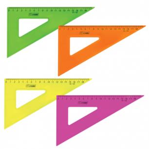 """Треугольник СТАММ """"Neon Cristal"""", 30*18см, тонированный, прозрачный, неон. ассорти, ТК47"""