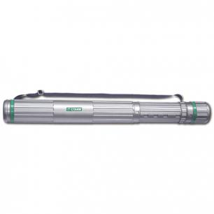 Тубус для чертежей СТАММ телескопический, диам.9см, 70-110см, серый на ремне, ПТ12
