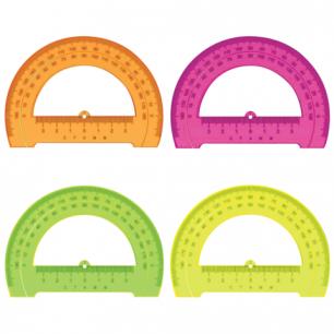 """ТранспортирСТАММ """"Neon Cristal"""", 12см, 180 градусов, тонированный, неон. ассорти, ТР31"""