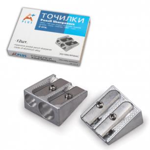 Точилка BEIFA (Бэйфа)  металлическая клиновидная, 2 отверстия, в картонной коробке, AG1006A