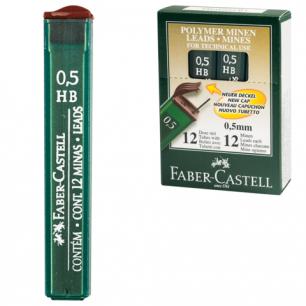 Грифель запасной FABER-CASTELL HB, полимерный, 0,5мм, 12шт., FCOF9125_НВ